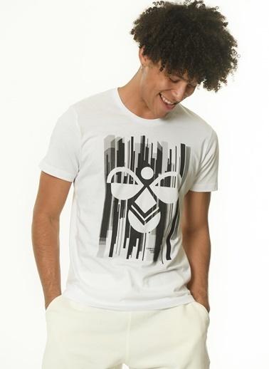 Hummel Erkek Agoptos Tişört 910235-9001 Beyaz